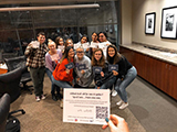 Student leaders participate in the LoyolaVotes post card campaign